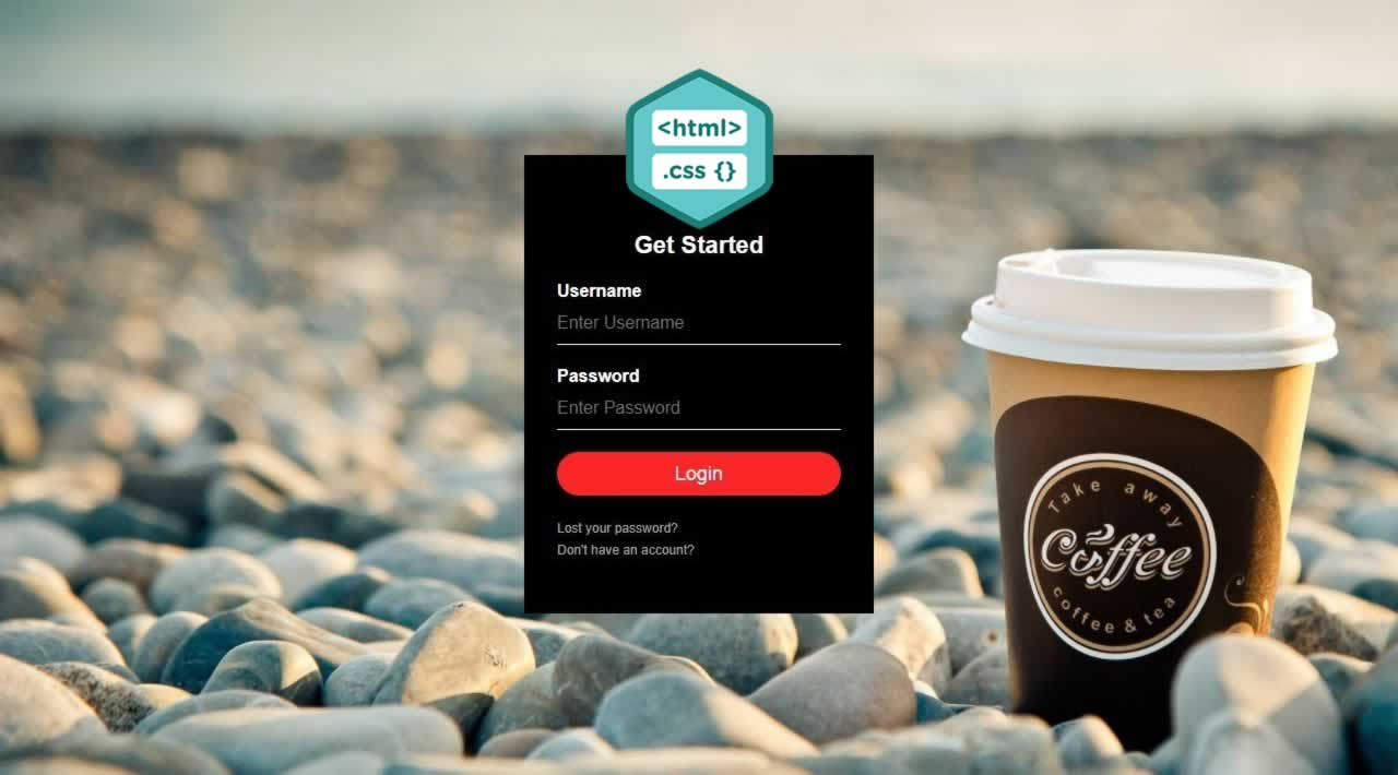How to create a responsive login form with HTML and CSS
