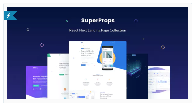Trending React Next Landing Page Collection