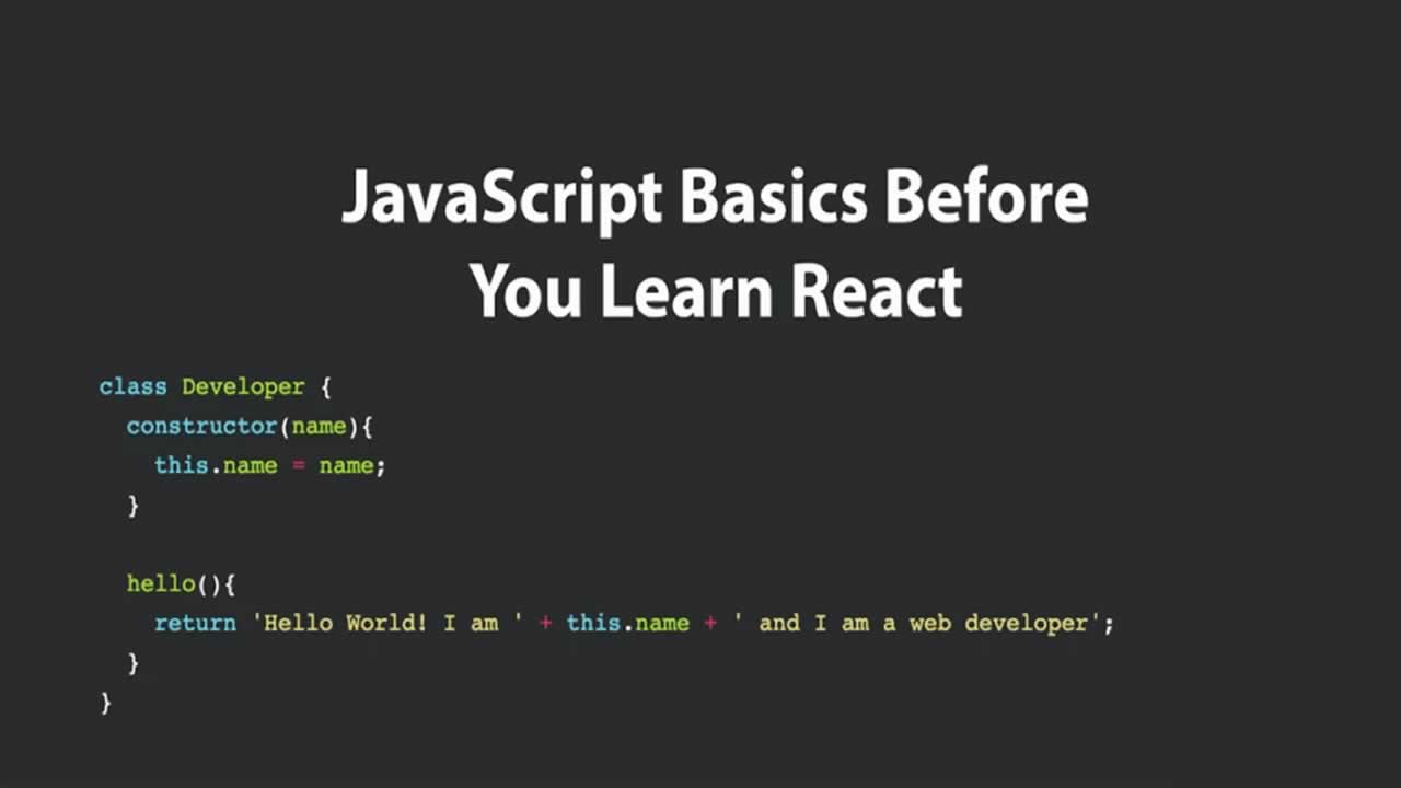JavaScript Basics Before You Learn React