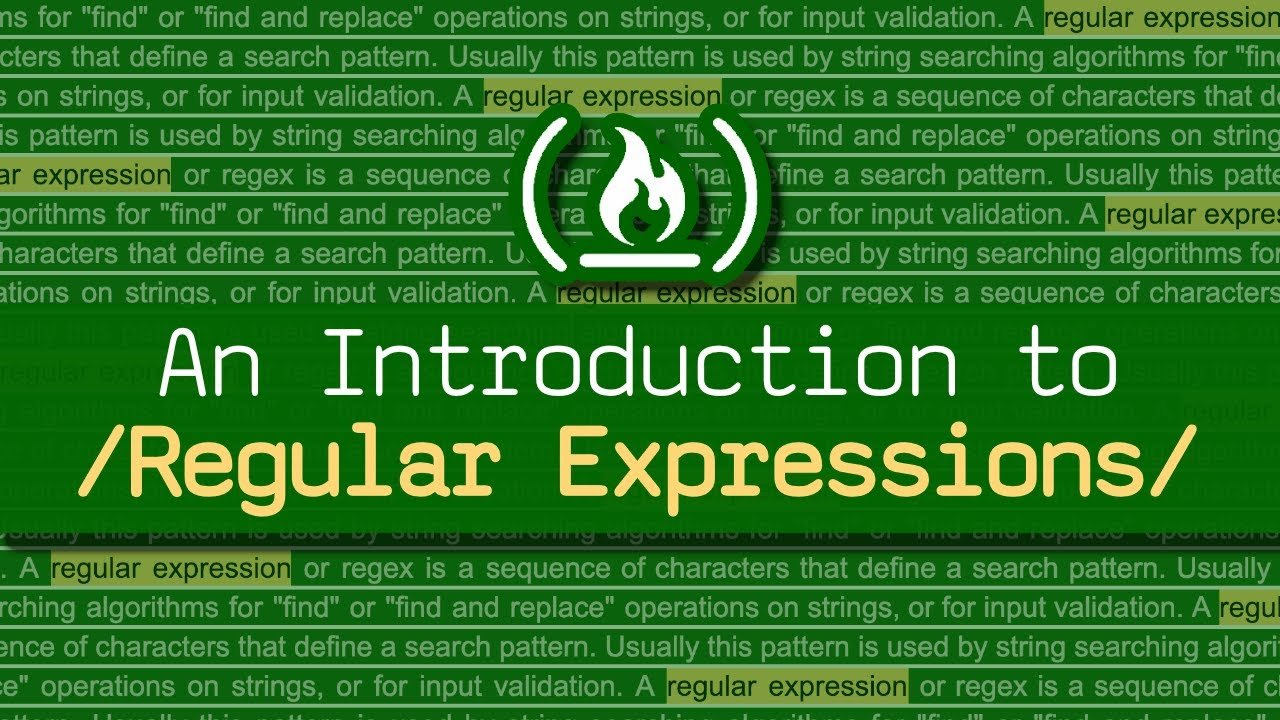 Learn Regular Expressions (Regex) - Crash Course for Beginners
