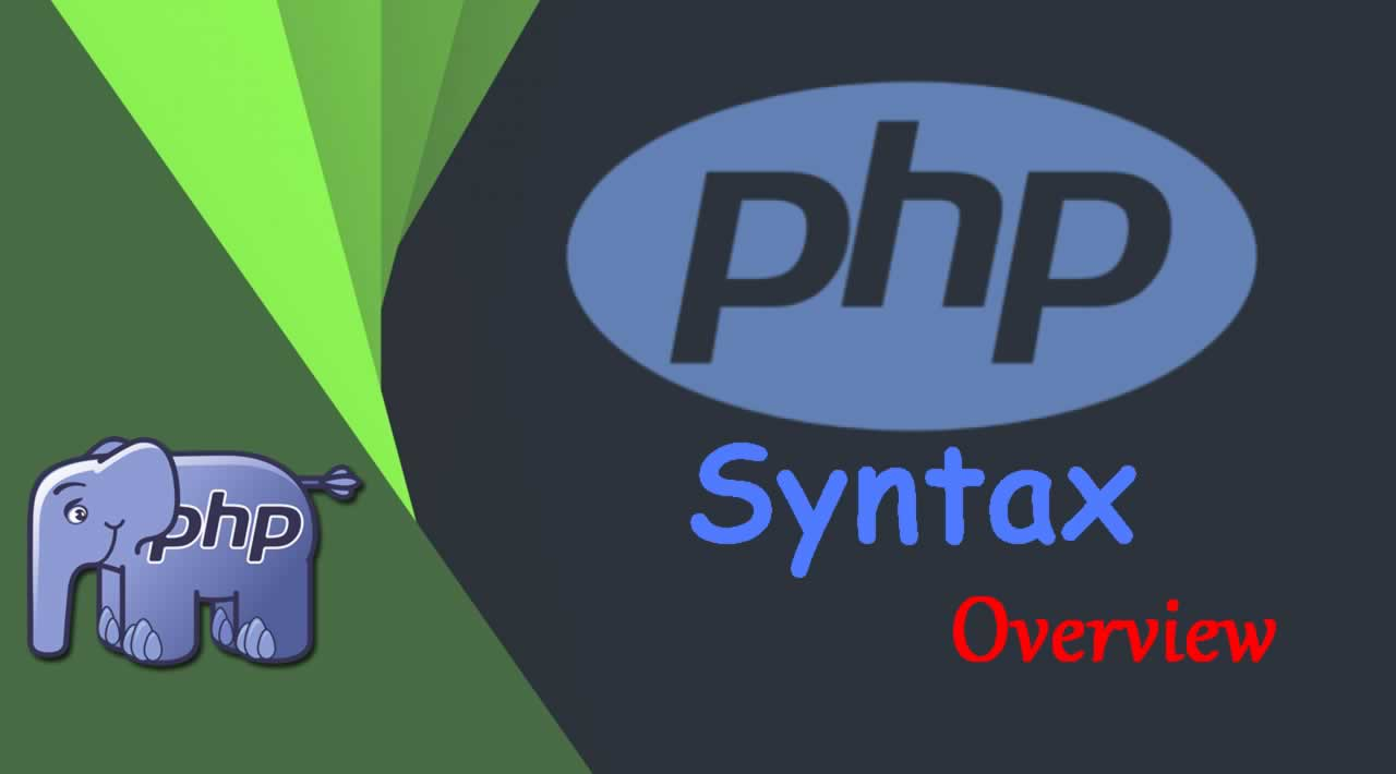 Syntax Overview in PHP