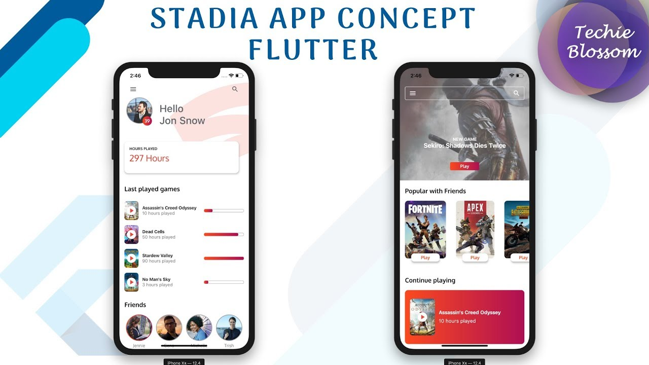 Flutter UI - Stadia App Concept - Full Tutorial