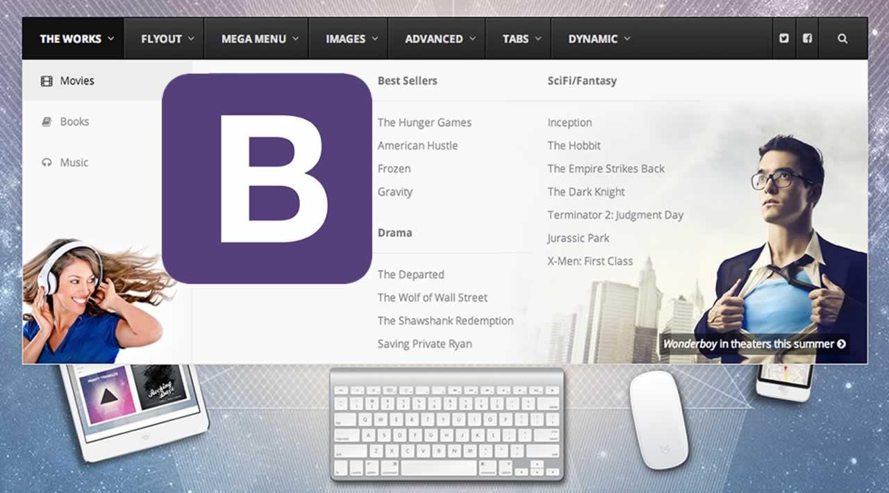 How to make a Mega Menu using Bootstrap 4