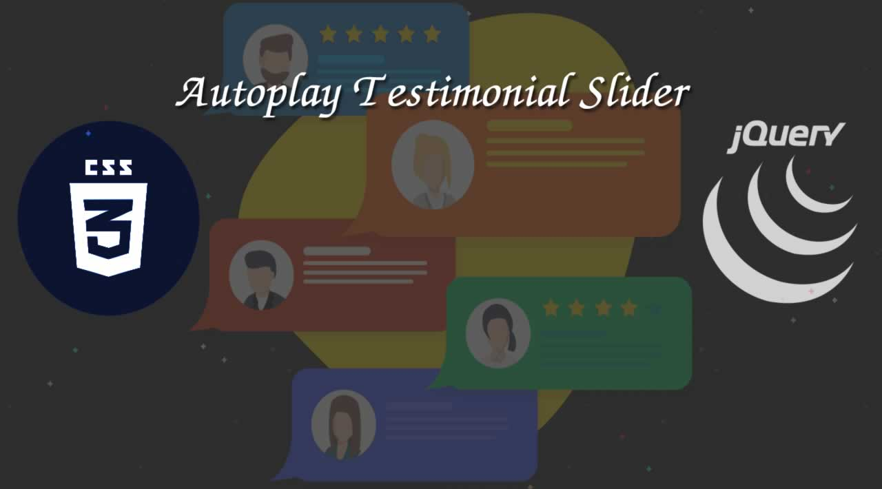 How to Create an autoplay Testimonial Slider with jQuery and CSS