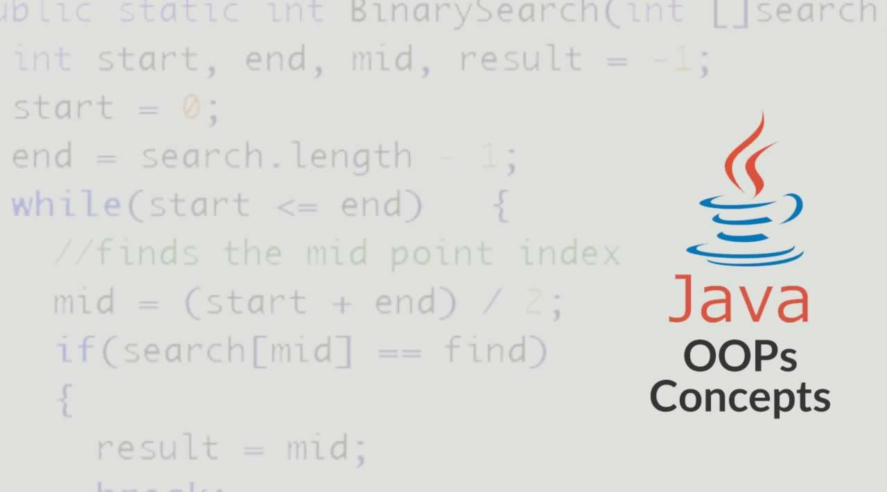 Java OOPs Concepts With Examples
