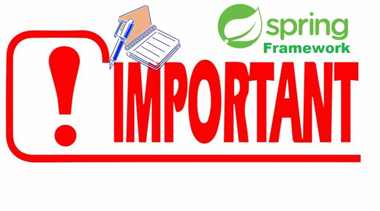 "Spring Framework Annotations: ""important"" >.<"
