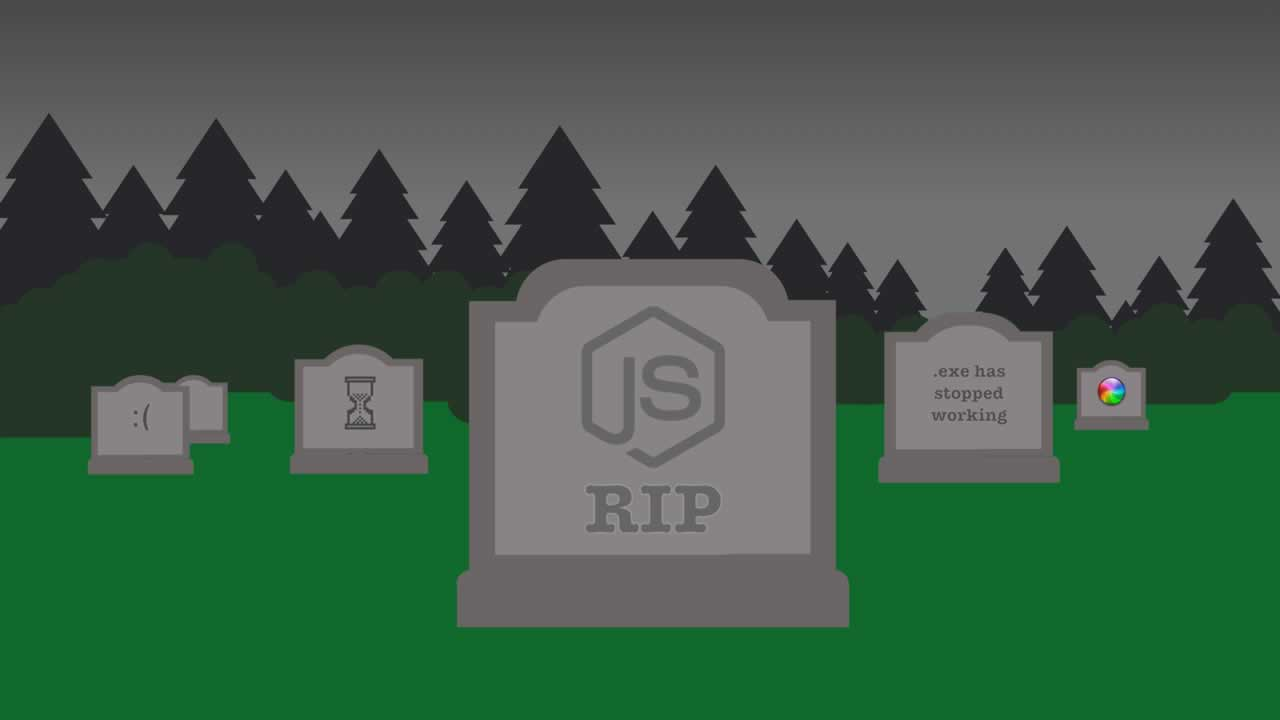 You should never ever run directly against Node.js in production. Maybe.