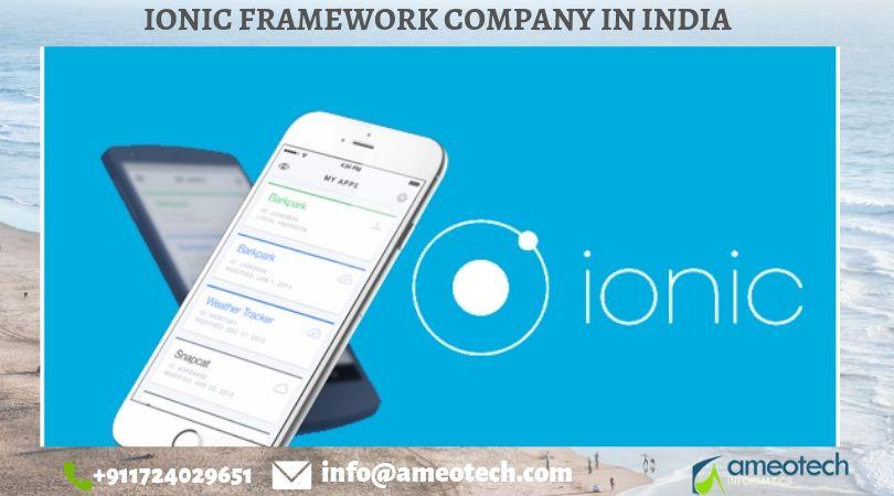 Ionic Framework Company in India