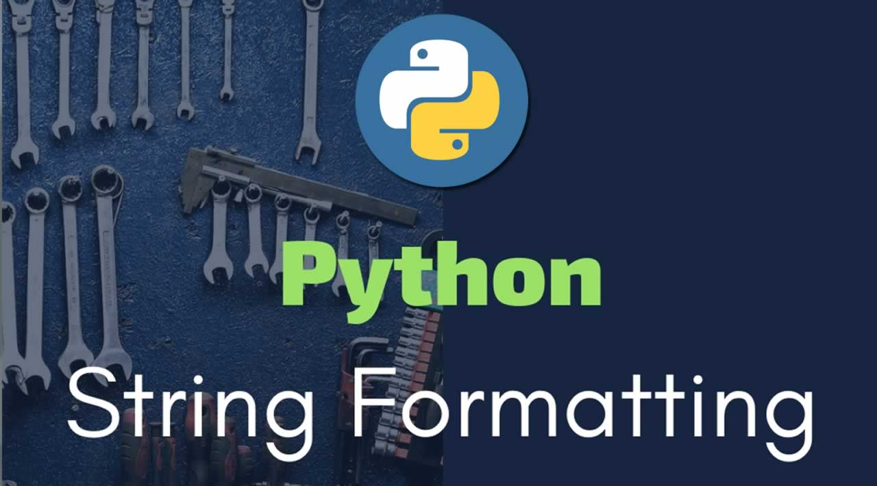 Python String Formatting Best Practices