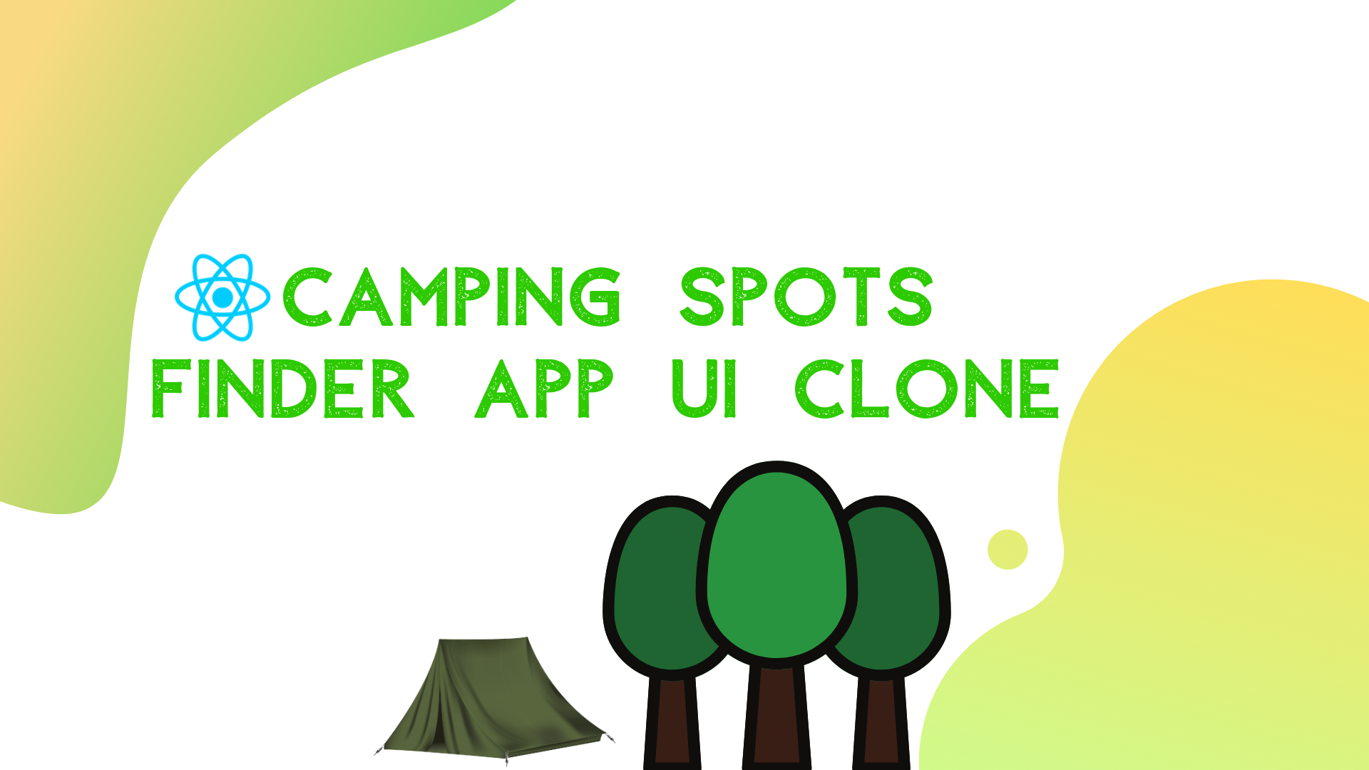 Camping Spots Finder App UI Clone with React Native #1 : Map view UI