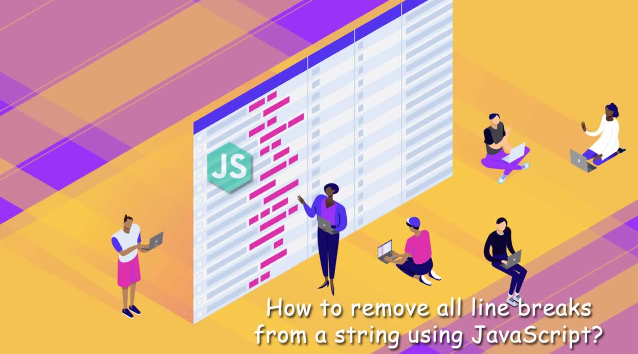 How to remove all line breaks from a string using JavaScript?