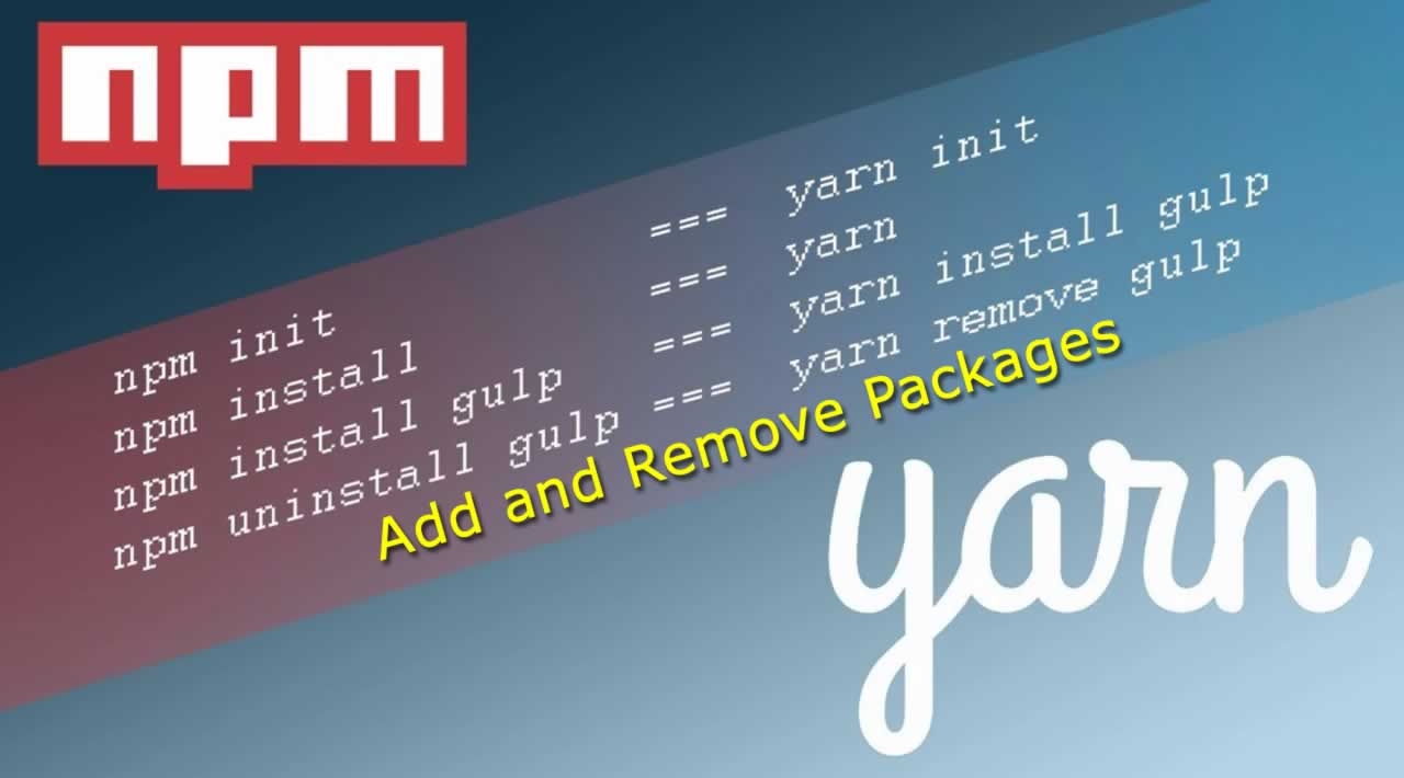 How to Add and Remove Packages using NPM and Yarn