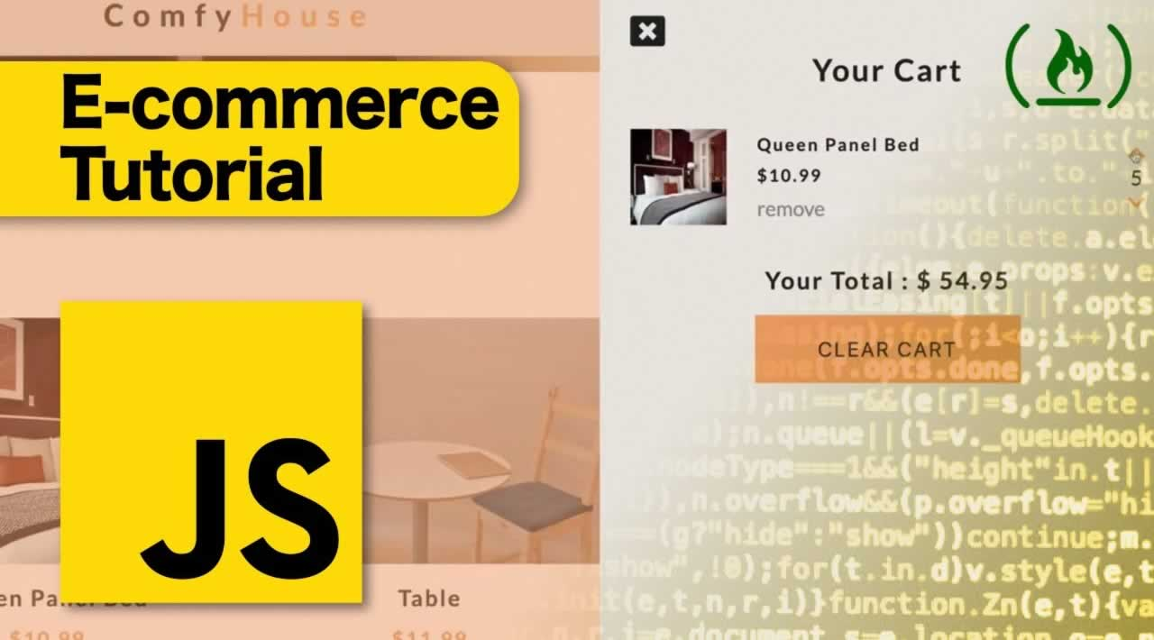 E-Commerce JavaScript Tutorial - Shopping Cart from Scratch