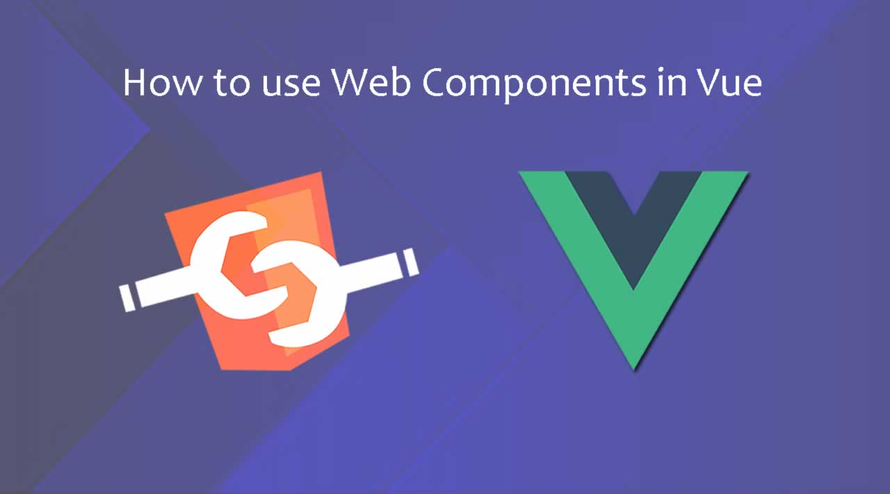 How to use Web-Components in Vue