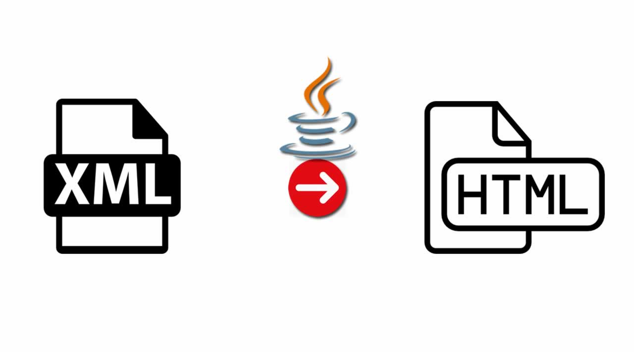 How to convert XML to HTML using Java libraries