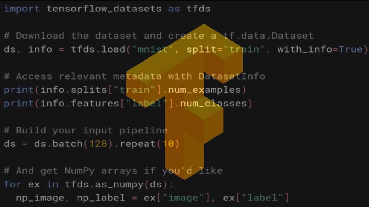 Introducing TensorFlow Datasets