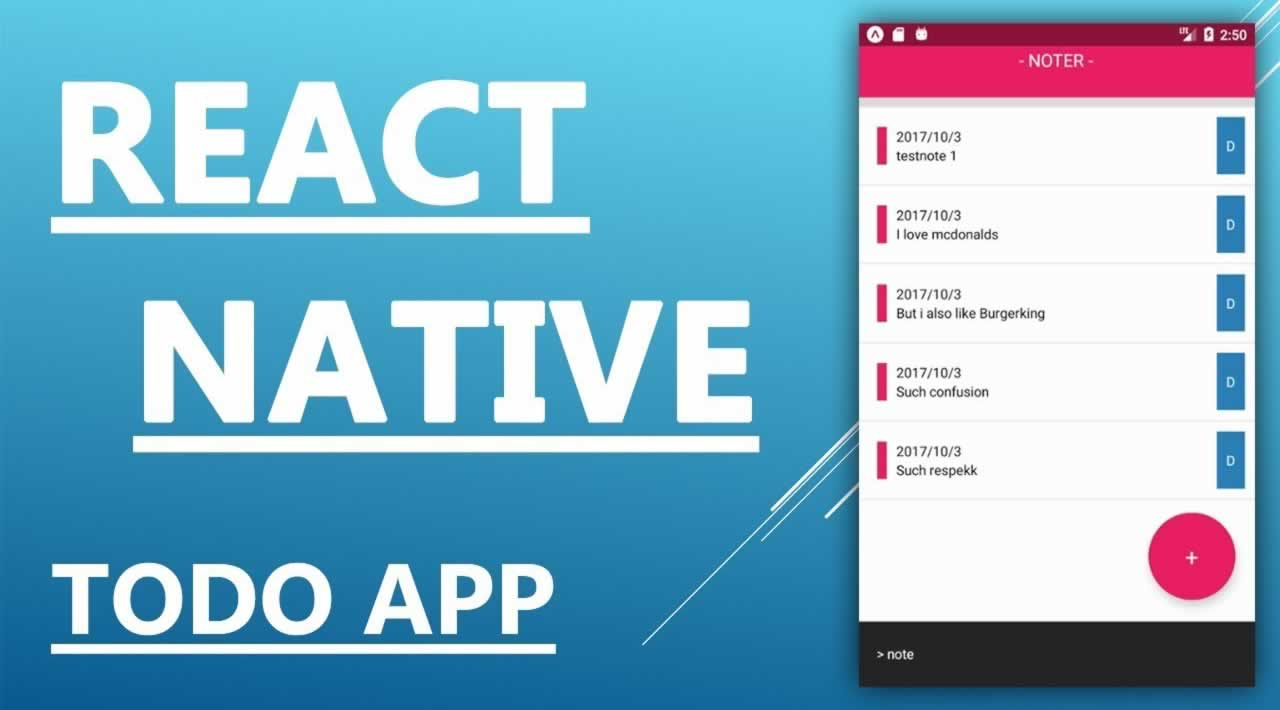 Create a todo app React Native for iOS, Android and web