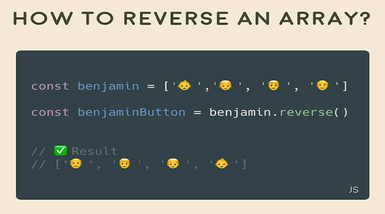 How to reverse an array in JavaScript?