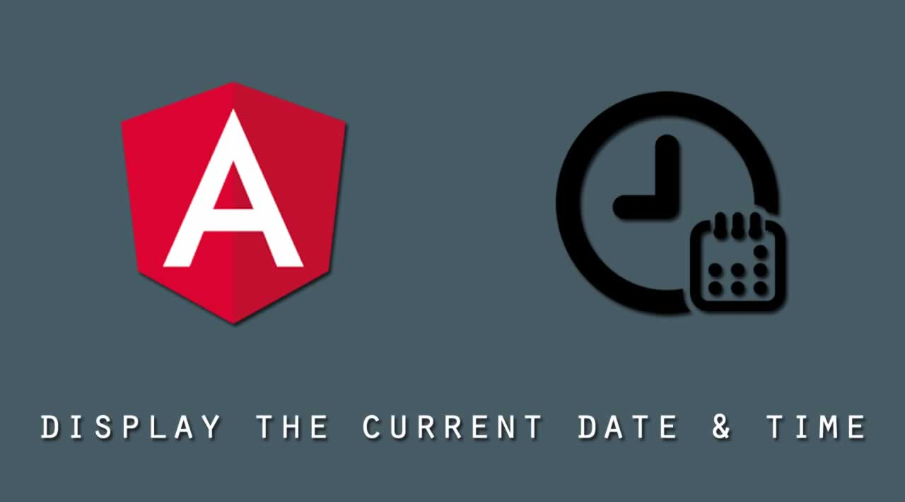 How to display the current date and time in AngularJS