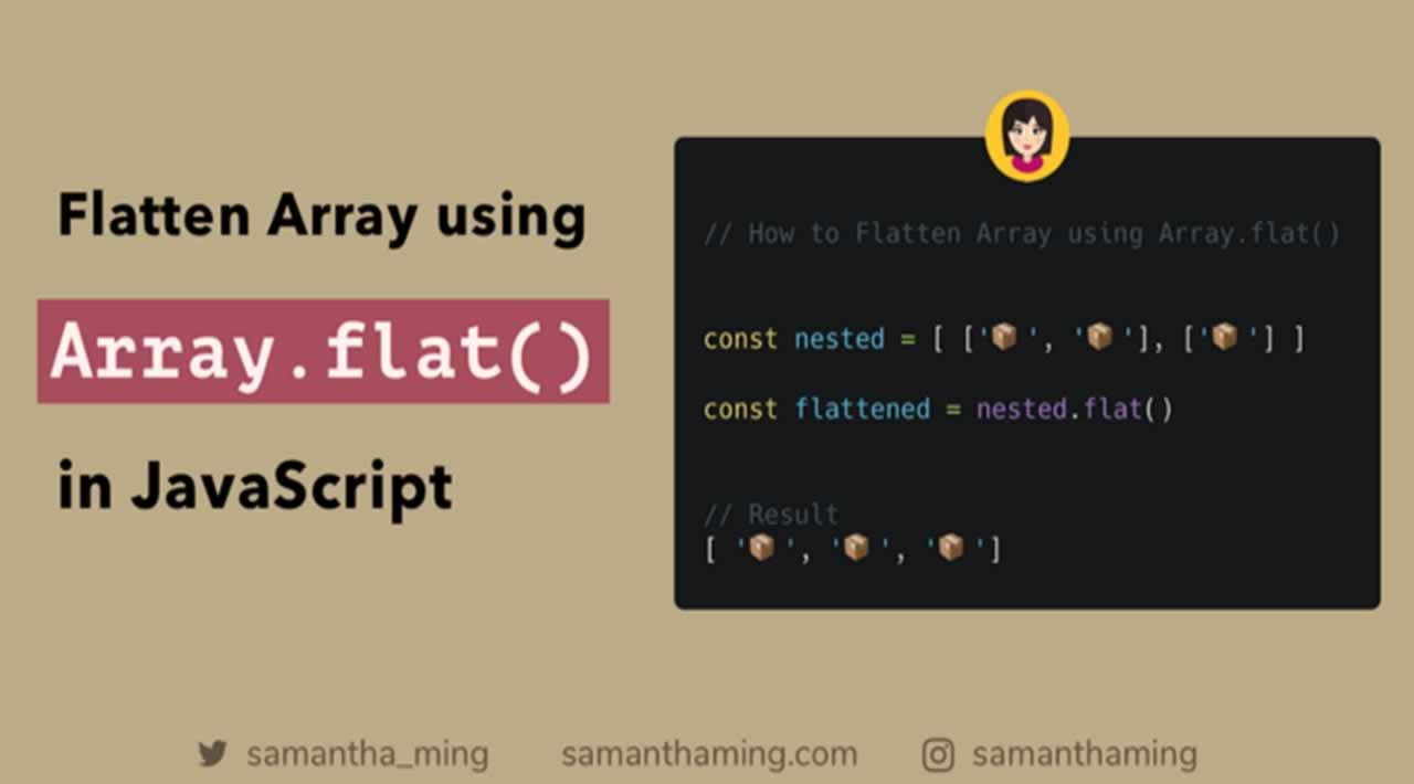 Flatten Array using Array.flat() in JavaScript