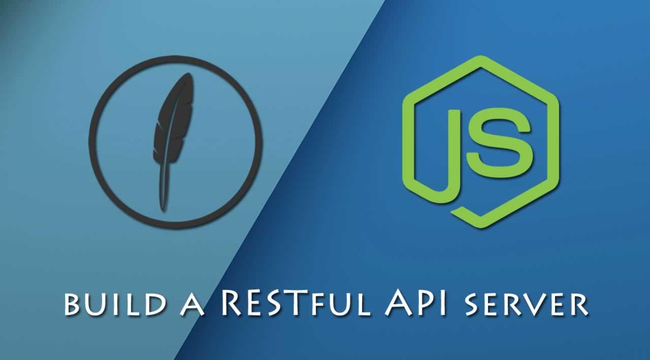Use FeathersJS to build a RESTful API server in Node.js