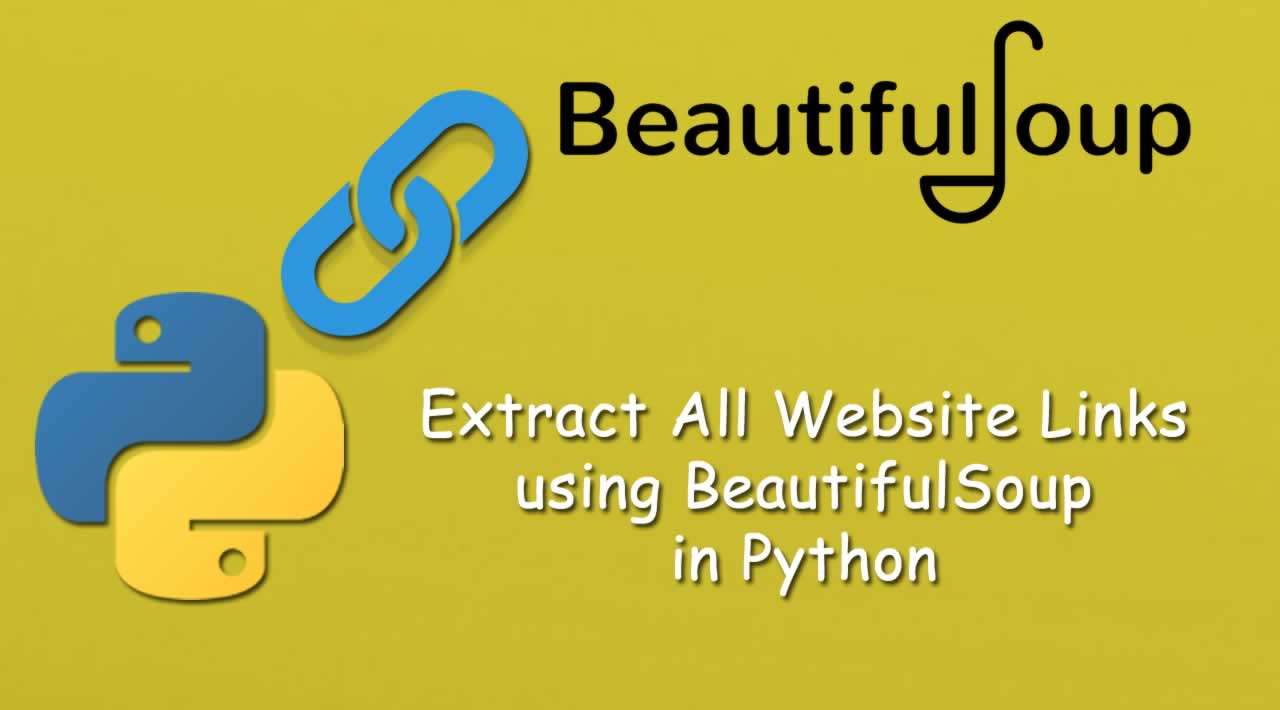 How to Extract All Website Links using BeautifulSoup in Python