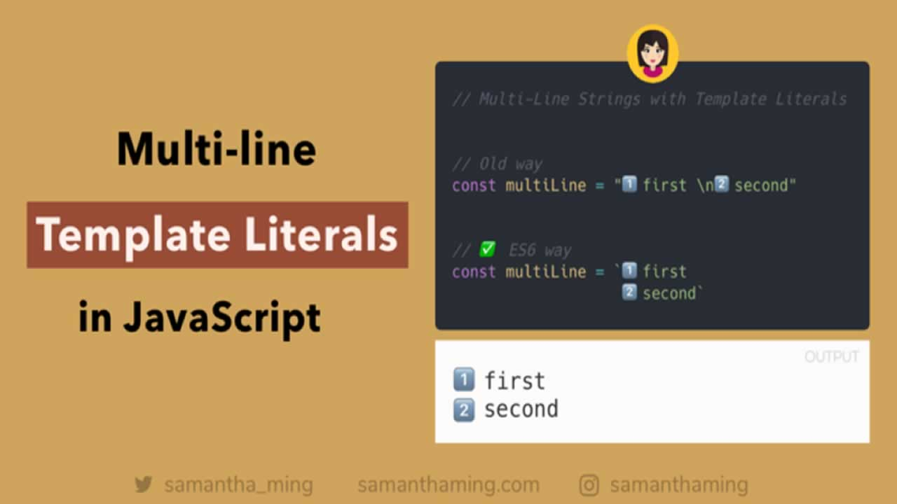 How to Create Multi-Line String with Template Literals in JavaScript